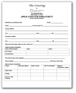 Clarity Hospice Employment Application